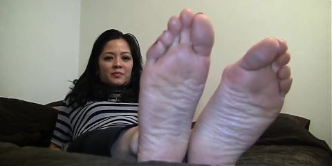 Girl stinky white socks and soles