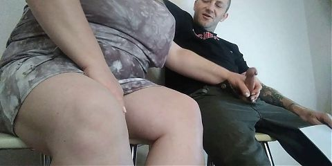 the woman liked my cock and she jerks it off
