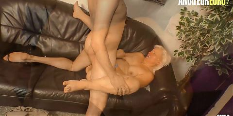 AMATEUREURO - Thick Ass German Granny Has a Hardcore Pussy Fuck