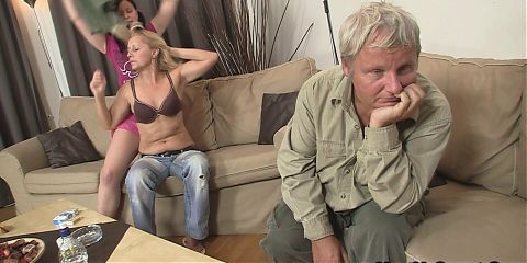 His new girlfriend enjoy great time with old couple