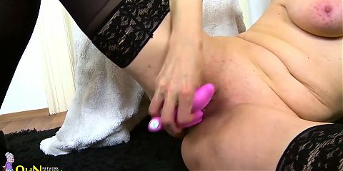 OLDNANNY - Blonde Mature Evi Gone Wild With Her Sex Toys